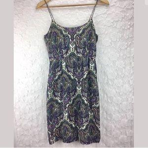 J. Crew 100% Silk Paisley Print Dress